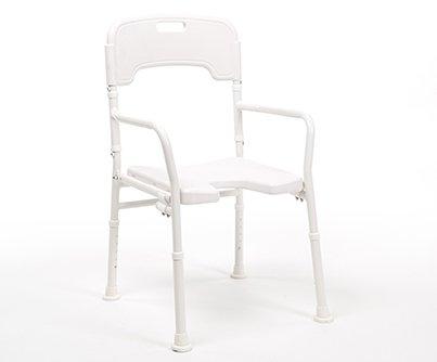 silla de ducha plegable y regulable en altura LALY en ortopediaconde