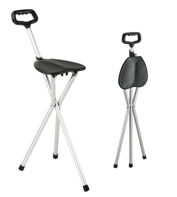 bastón con asiento incorporado en ortopediaconde