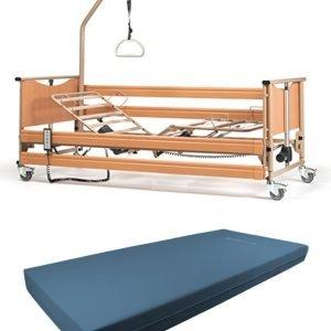 Cama articulada eléctrica y colchón viscoelastica
