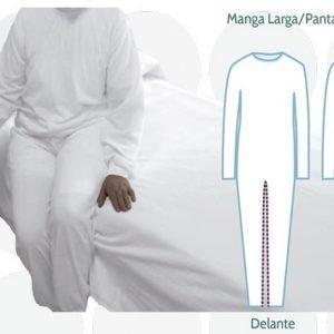 pijama antipañal con cremalleras