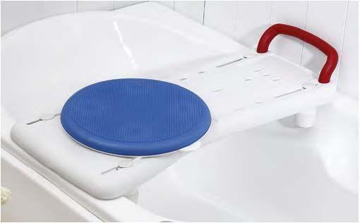 asiento de bañera con disco giratorio
