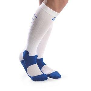 Calcetines compresión deportivos blancos